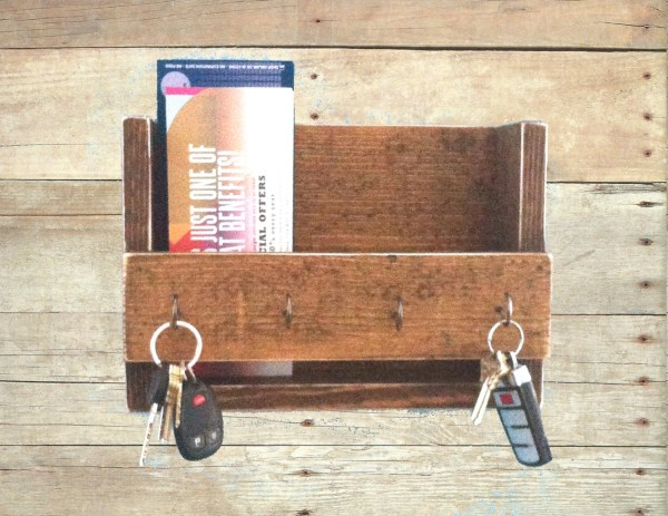 Rustic Key Holder And Mail Organizer Reclaimed Wood Rack
