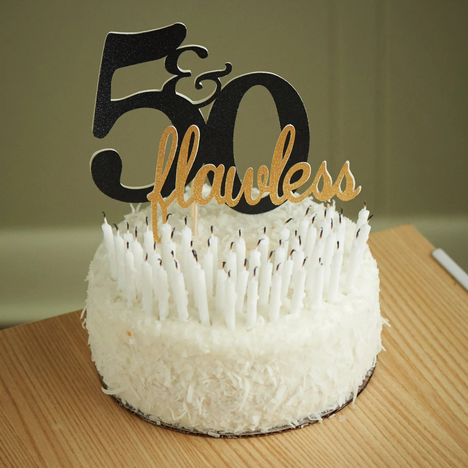 50th Birthday Cake Topper Handcrafted In 2 5 Business