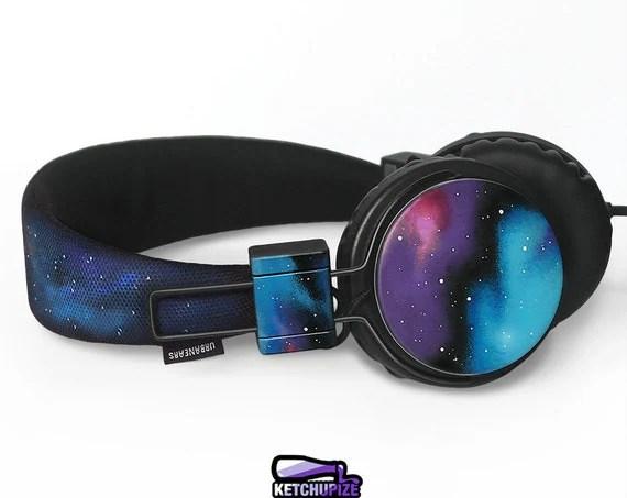 Space Galaxy Nebula Cosmic headphones earphones hand painted