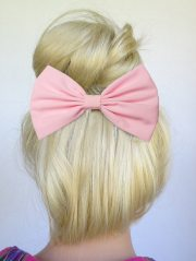 light pink hair bow clip baby