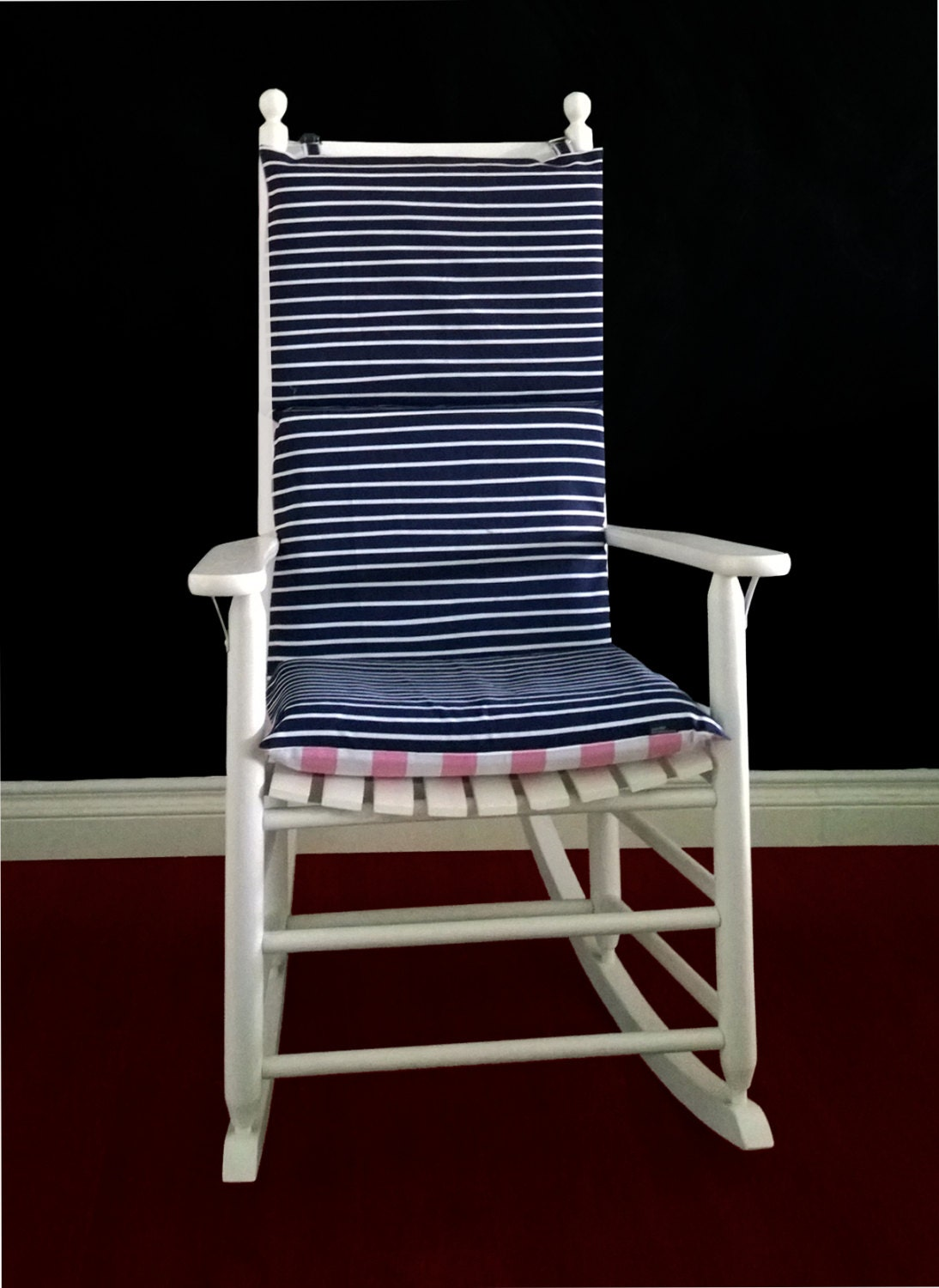 Pink Rocking Chair Cushions On Sale Rocking Chair Cushion Cover Navy Stripe Pink Stripe