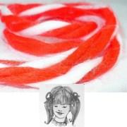 red white hair bow yarn ribbon