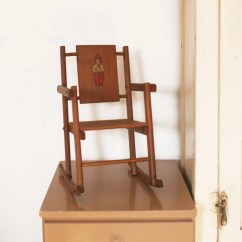 Handmade Rocking Chairs Fishing Chair With Wheels Vintage Wood Doll Wooden Toy