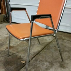 Chromcraft Chairs Vintage How To Make A Dining Room Chair Cover Brand Beautiful Orange By Roystradingpost