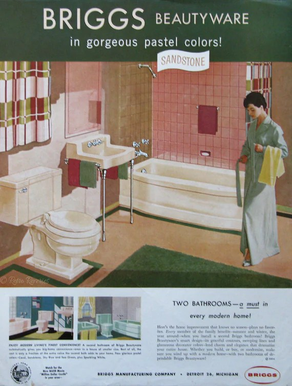 1954 Briggs Beautyware Vintage Home Decor Ads 1950s