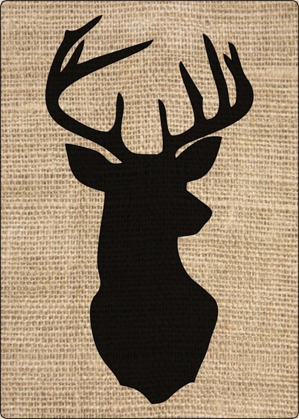 Free Printable Stencil Deer Head Silhouette