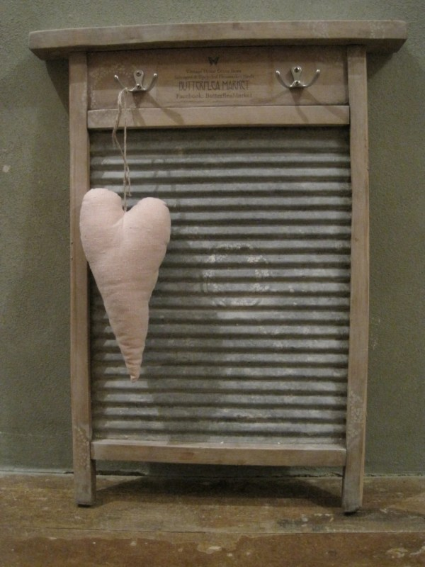 Upcycled Vintage Washboard Antique Laundry Towel