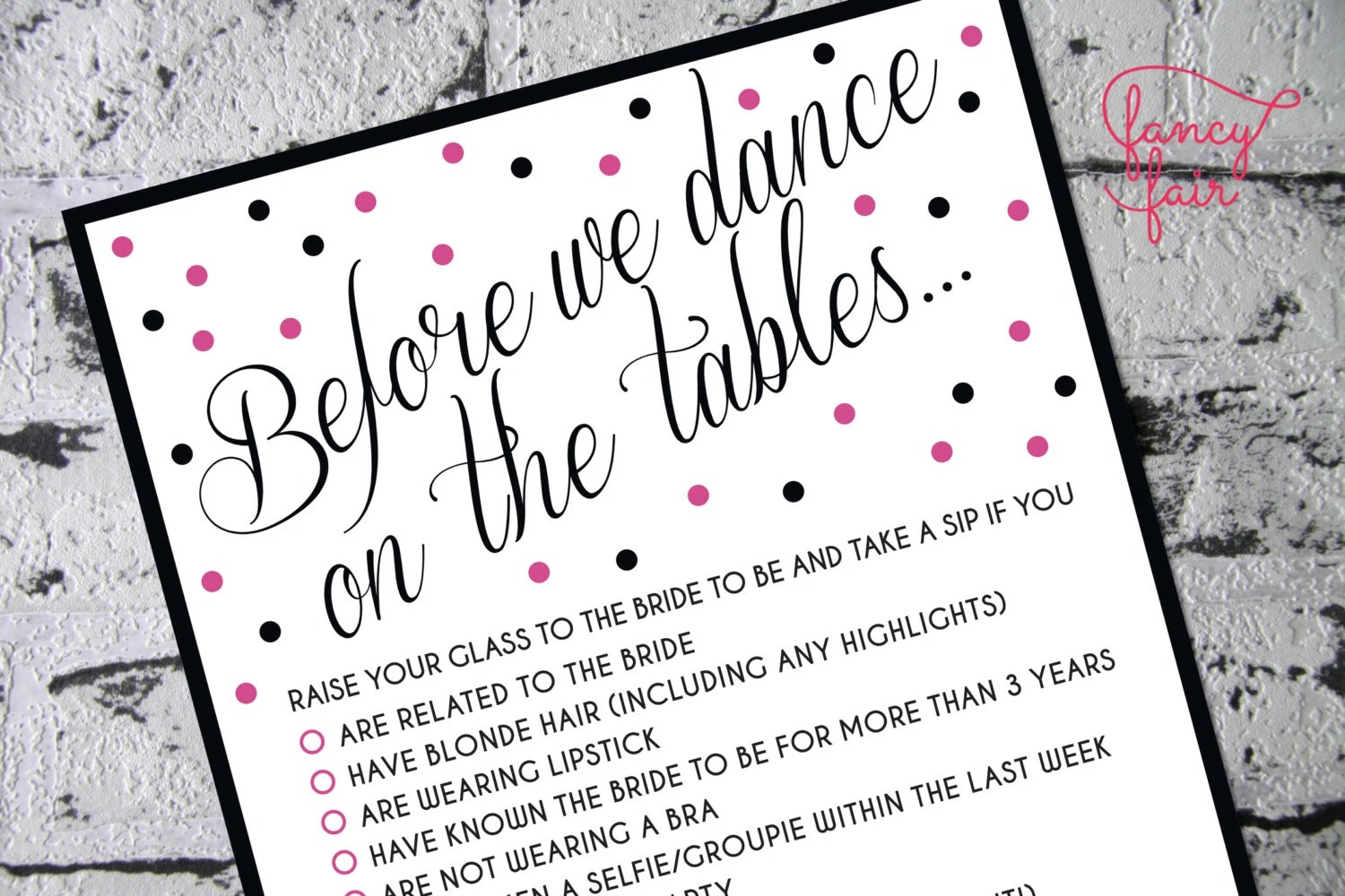 Bachelorette Party Games 3 Games Dare Cards Drink If and