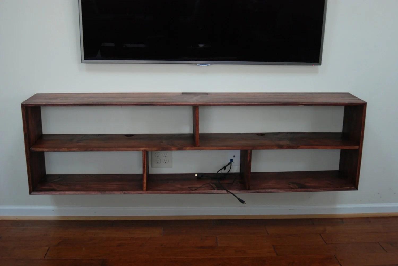 639 Wall Mounted Media Electronics Shelf