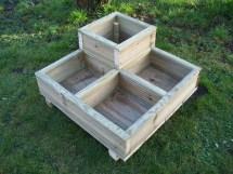 Square Decking Corner Wooden Garden Planter Wood