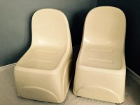 1950's Italian Fiberglass Chairs by EYE4THEBLIND on Etsy