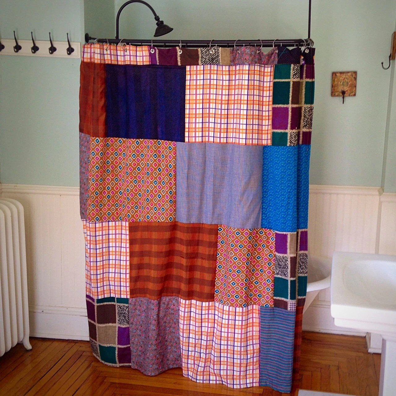 Patchwork Shower Curtain by mercantilehome on Etsy