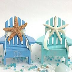 Adirondack Chair Cake Topper Sam Moore Beach Wedding 2 Mini Chairs With