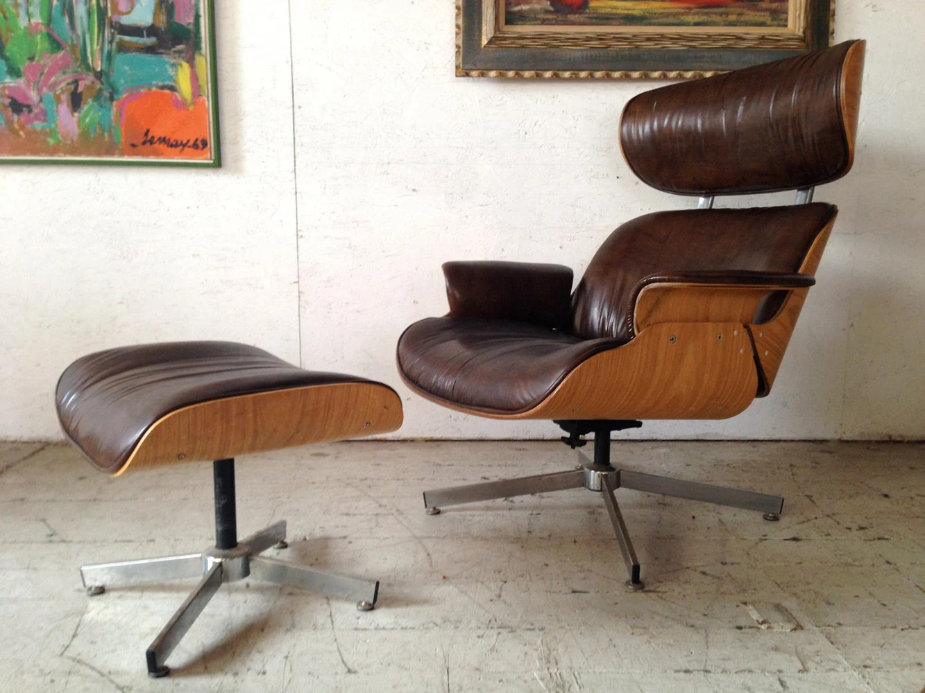Selig Lounge Chair Madmen Sale Plycraft Selig Lounge Chair And Ottoman 1960s