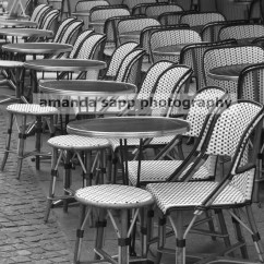 Paris Bistro Chairs Outdoor Ricon Wheel Chair Lift Cafe Black And White Fine Art Photo
