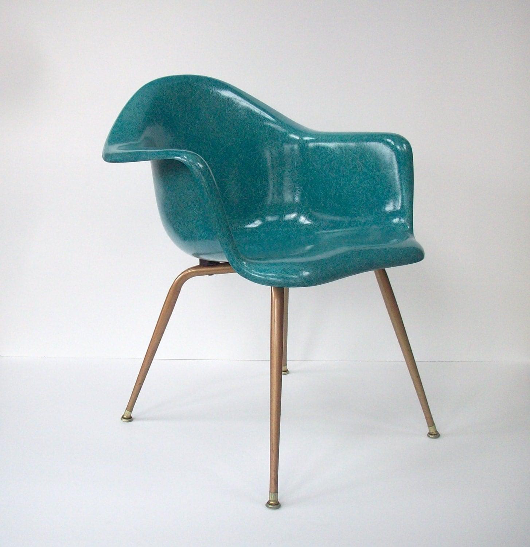 fiberglass shell chair desk urban outfitters vintage chromcraft mid century modern