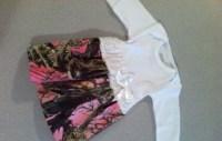Premie or newborn baby Pink Camo Dress by SewAdorableHandmade