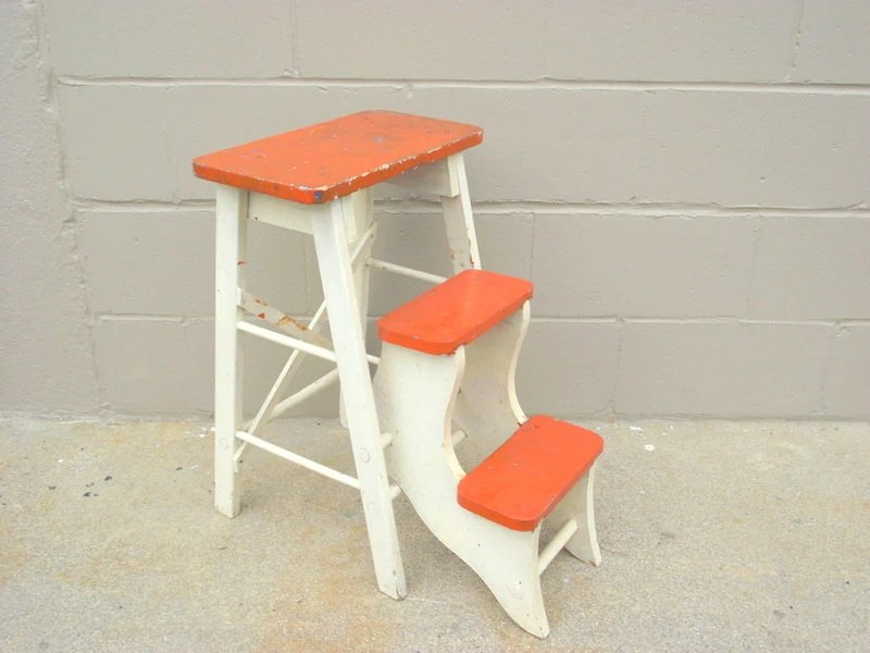 folding chair lifetime at walmart antique wood step stool kitchen rustic ladder steps