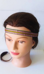 woven aztec headband tribal pattern