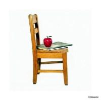Vintage School Chair / Preschool / Toddler Seat / Solid Oak