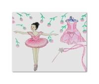 Ballerina Wall Art Ballet Dance Nursery Prints by handpainting
