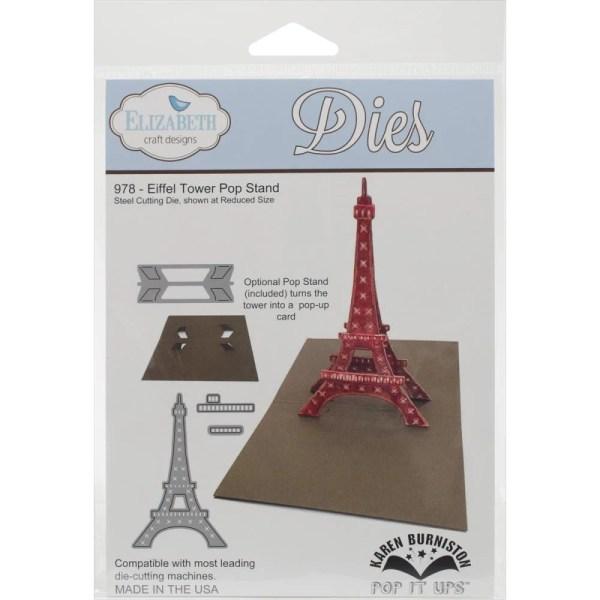 Eiffel Tower Popup Die Elizabeth Crafts Cuttlebug Sizzix