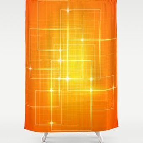 Orange Shower Curtain Etsy  Orange Shower Curtain