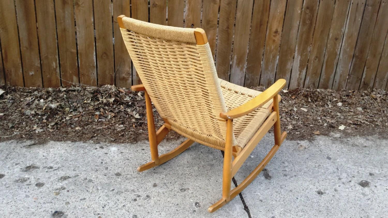 tree branch rocking chair desk velvet scandinavian modern rope wegner style 1960s