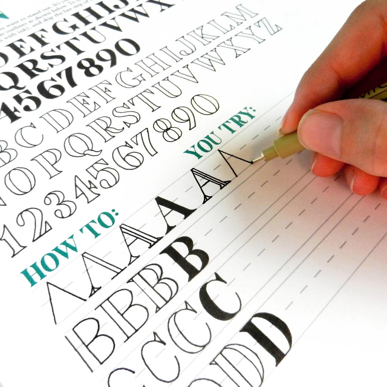 Printable Hand Lettering Worksheet Set 26 Page Set