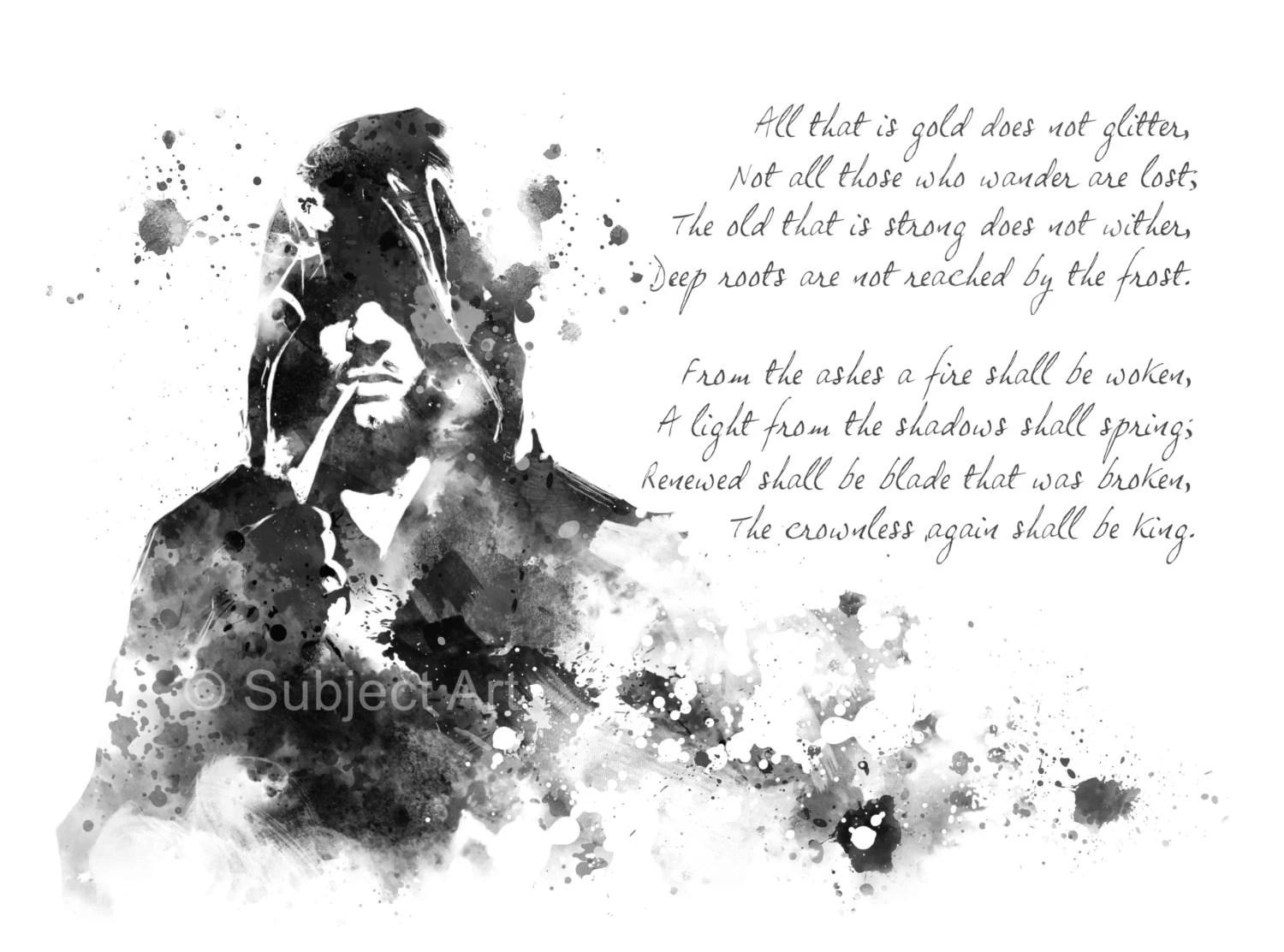 The Riddle of Strider Lord of the Rings ART PRINT