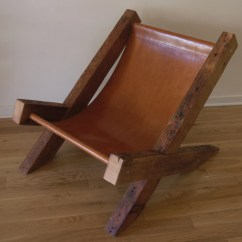 Wooden Lounge Chairs Ergonomic Chair Kijiji Reclaimed Wood And Leather Handmade