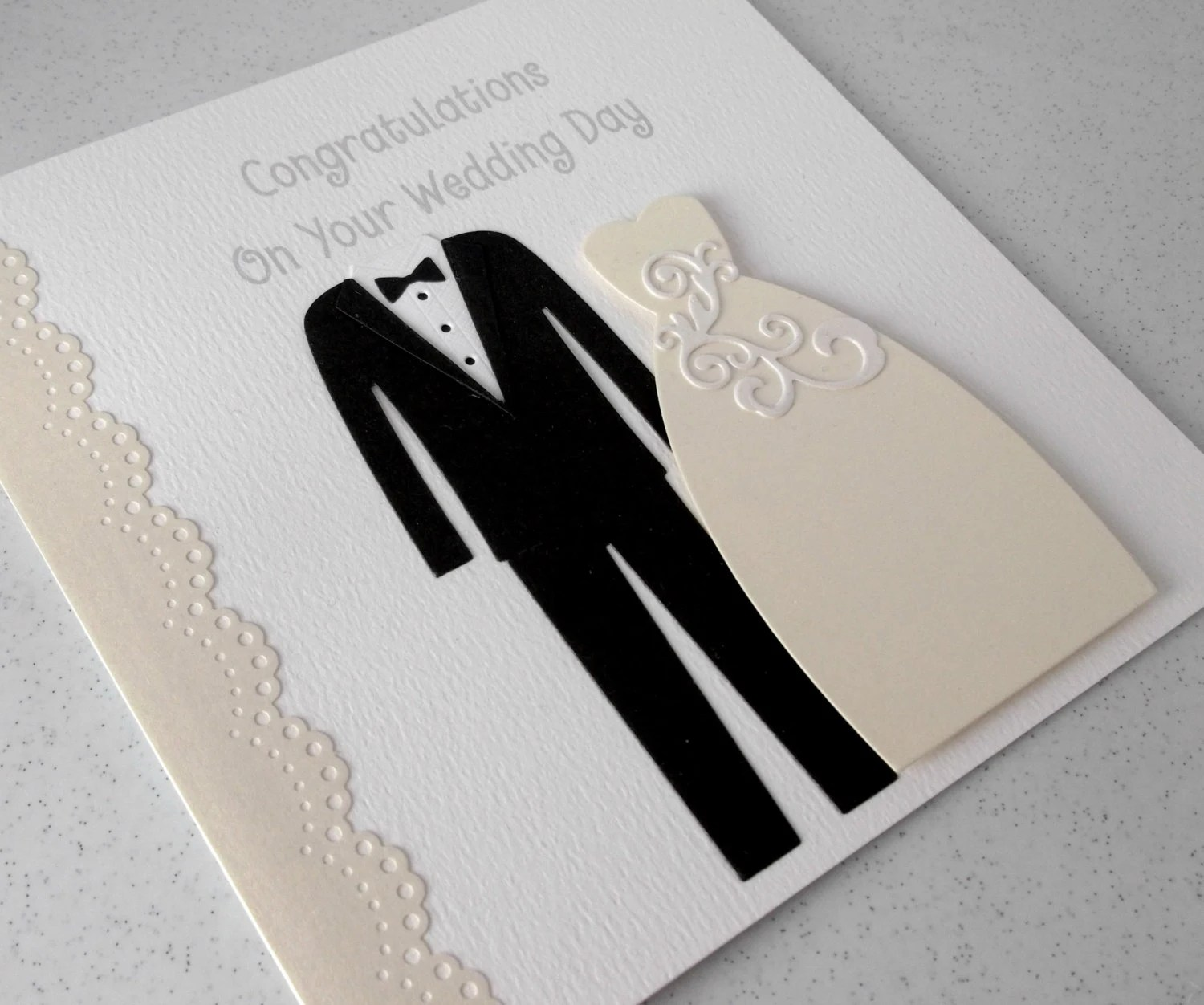Handmade Designer Wedding Card Modern Design Bride And Groom