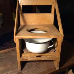 Wheelchair With Pot Ikea Deck Chair Covers Folk Art Wood Potty Child 39s Chamber Black By
