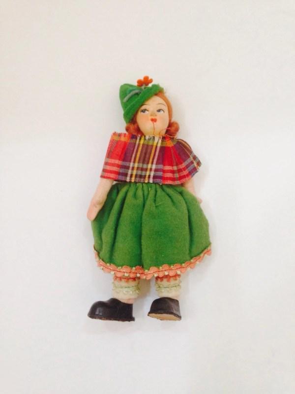 Vintage Cloth Doll Scotland Scottish