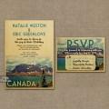 Canada wedding invitation printable vintage jasper national park