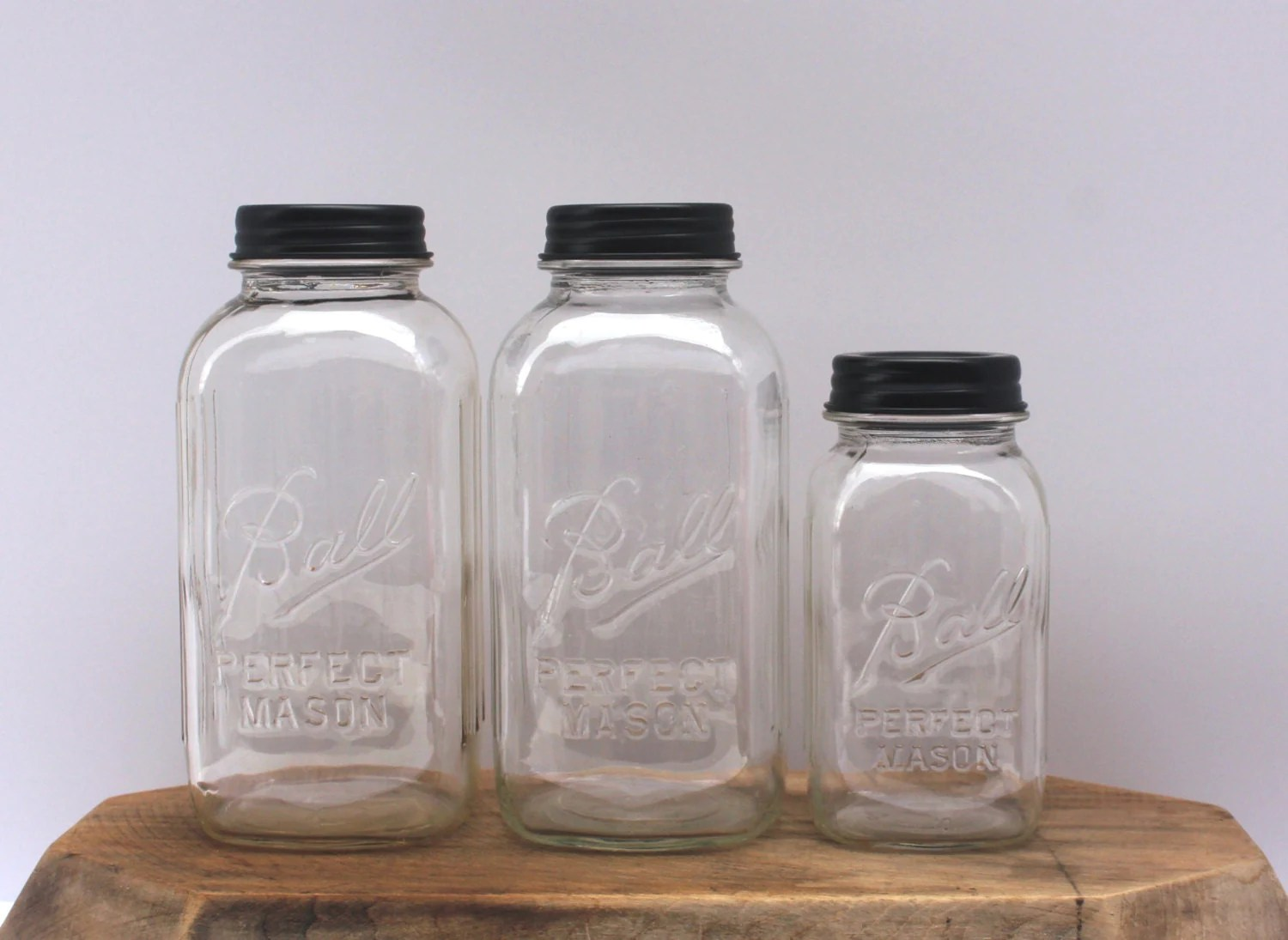 clear kitchen canisters wall mount faucet vintage mason jar canister set by hereonthefarm
