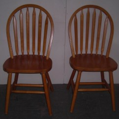 Solid Oak Pressed Back Chairs Steelcase Think Chair Matching Pair Of Dining Room Kitchen