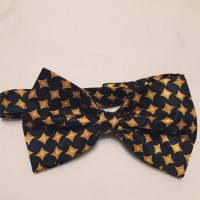 Navy Blue and Gold Bow Tie by BowKnotties on Etsy