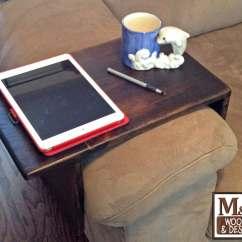 Sofa Arm Rest Tray Heavy Duty Fabric Couch Handmade Custom Fit Wood Table Tv