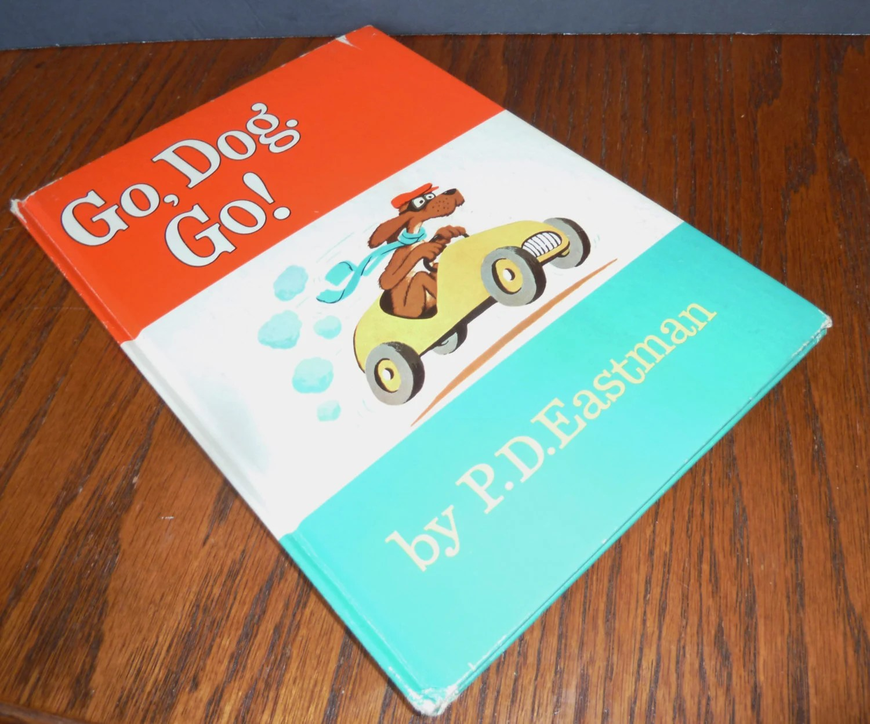Vintage Book P D Eastman Go Dog Go