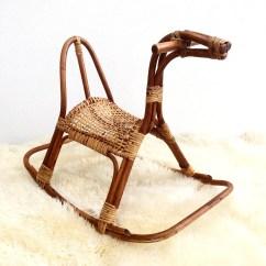 Horseshoe Rocking Chair White Modern Chairs Mid Century Scandinavian Horse