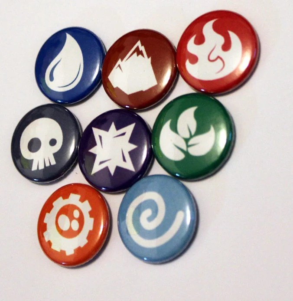 LIMITED EDITION Element Symbols Set 1 Inch pins