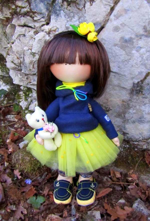 Cloth Doll Handmade Fabric Art Custom