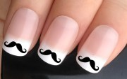 nail decals 341 curly moustache