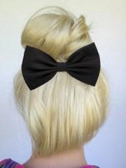 black hair bow clip