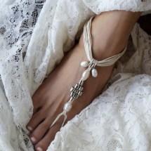 Pearl Bridal Barefoot Sandals Wedding Sandal