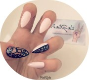 baby pink negative space baroque