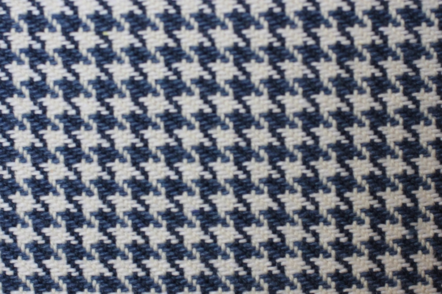 houndstooth sofa fabric futon bed covers 3 4 yd pc blue and white woven for