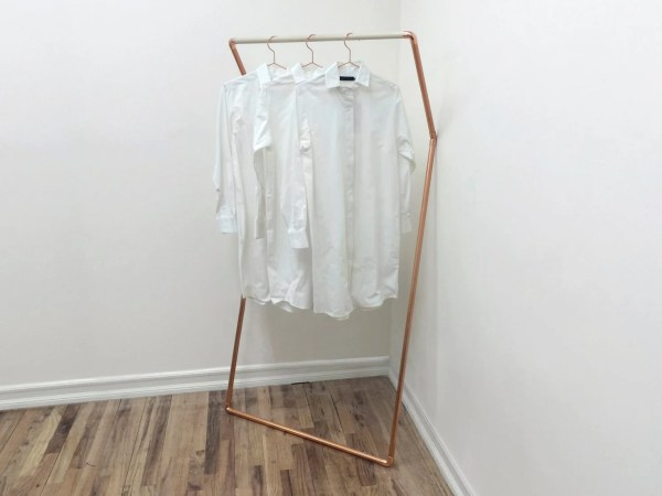 Rack Leaning Wall Clothing Copper Samichidesign