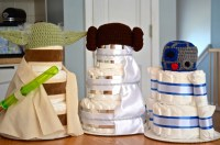 All 4 Characters Star Wars Inspired Baby Shower Centerpieces